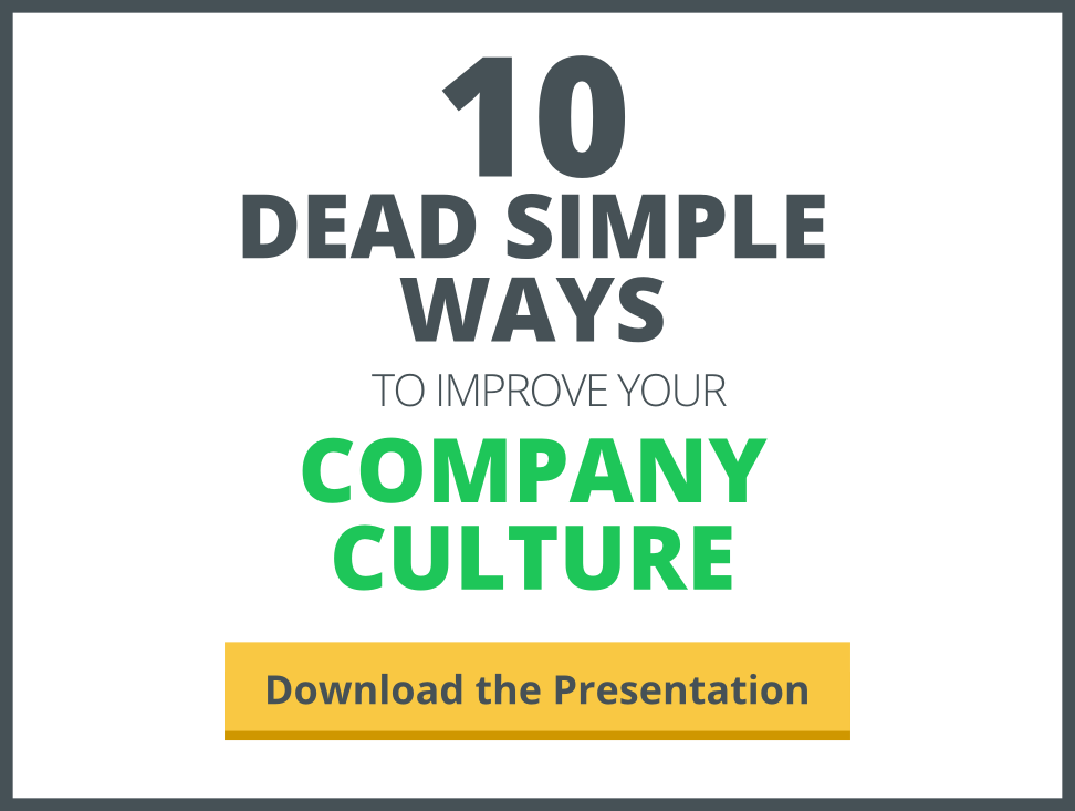 10 dead simple ways to improve your company culture presentation