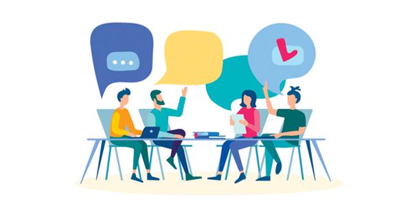 group-of-team-members-debating