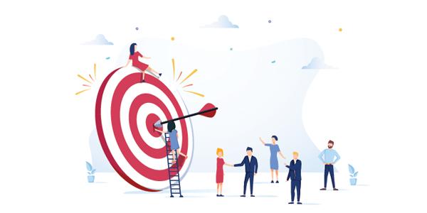 employees-looking-at-bullseye-target